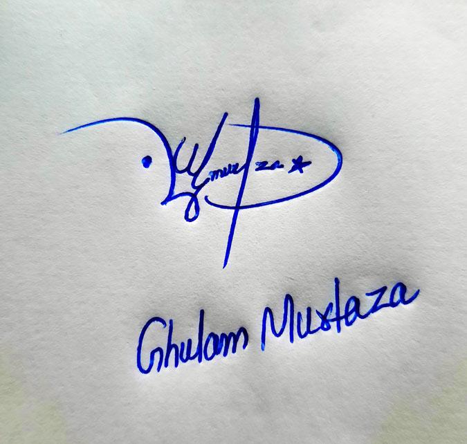 Ghulam Murtaza Name Online Signature Styles