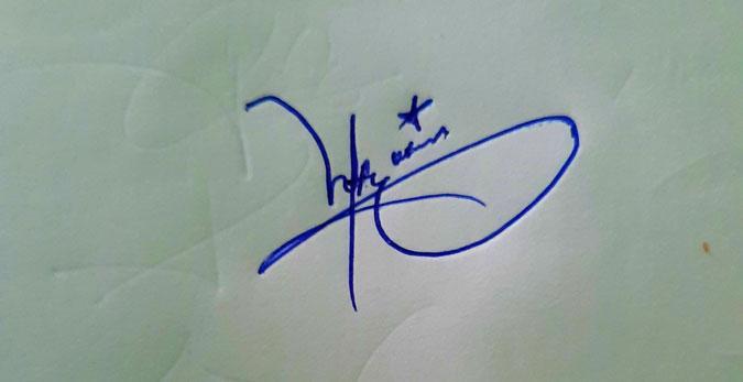 Hafiz ur Rehman Name Signature Style
