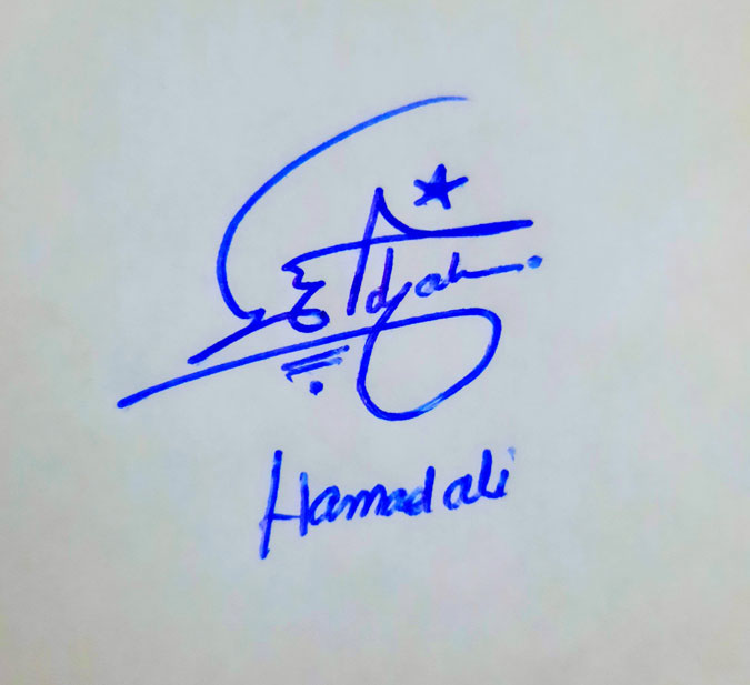 Hamad Ali Name Online Signature Styles