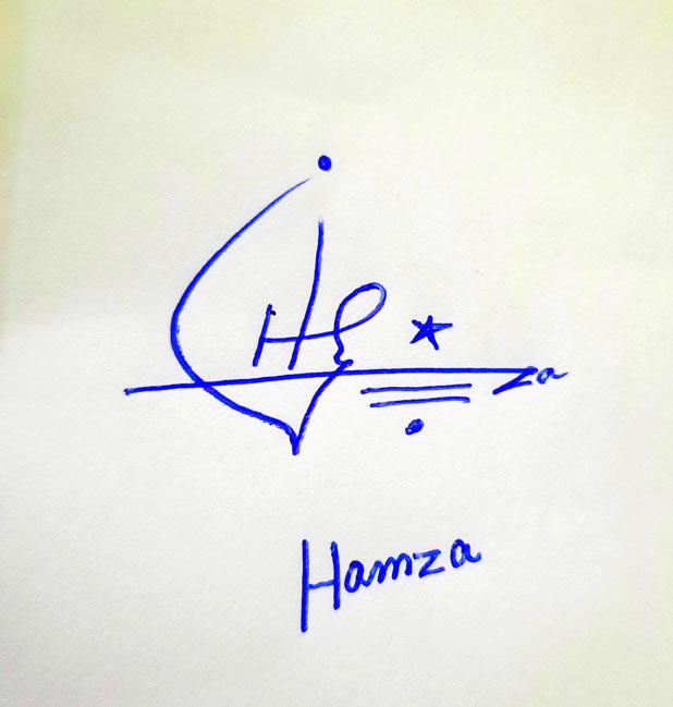 Hamza Name Online Signature Styles