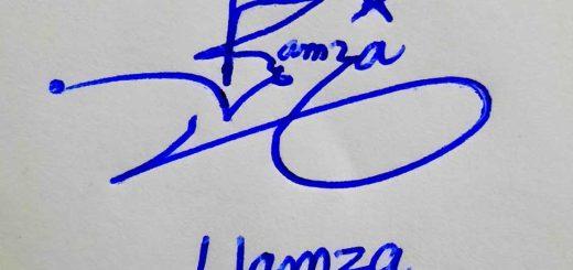 Hamza Name Signature Style