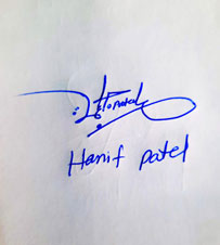 Hanif Patel Name Online Signature Styles