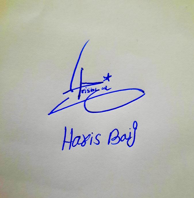 Haris Baig Name Online Signature Styles