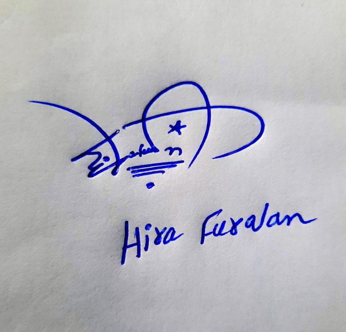 Hira Furqan Name Online Signature Styles