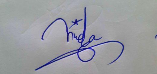 Huda Name Signature Style