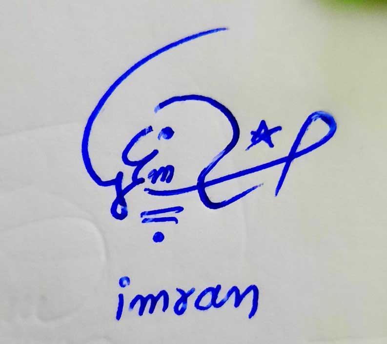 Imran Name Signature