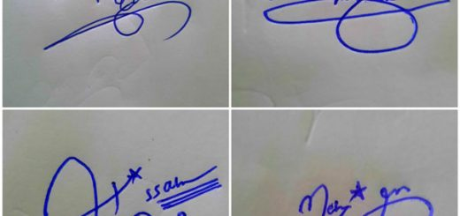 Lucky Signature For My Name