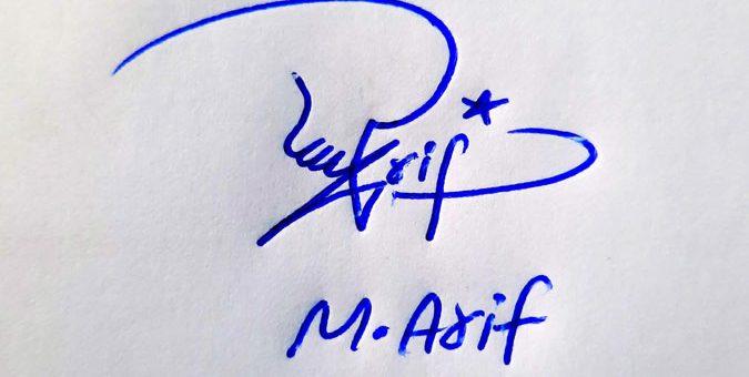 M Arif Name Online Signature Styles