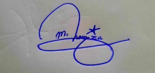 M Hamza Name Signature Style