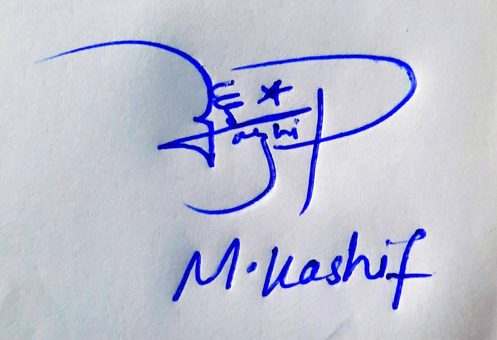 M Kashif Name Online Signature Styles
