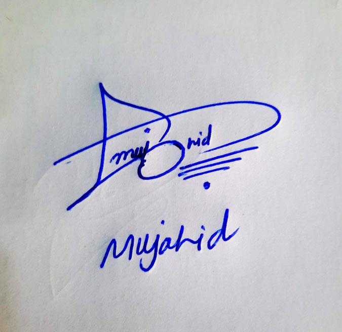 Mujahid Name Online Signature Styles