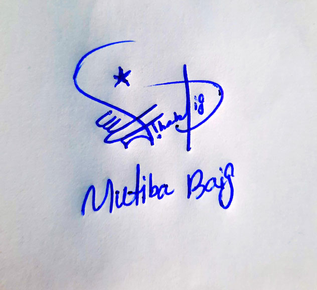 Mutiba Baig Name Online Signature Styles
