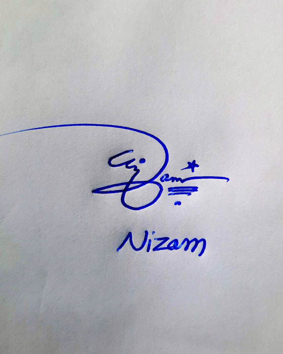 Nizam Name Online Signature Styles