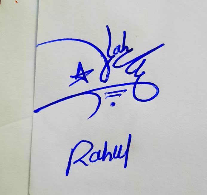 Rahul Name Signature Style