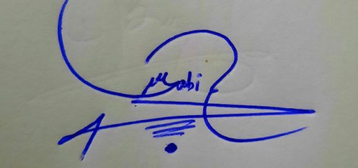 Sabir Name Signature Style