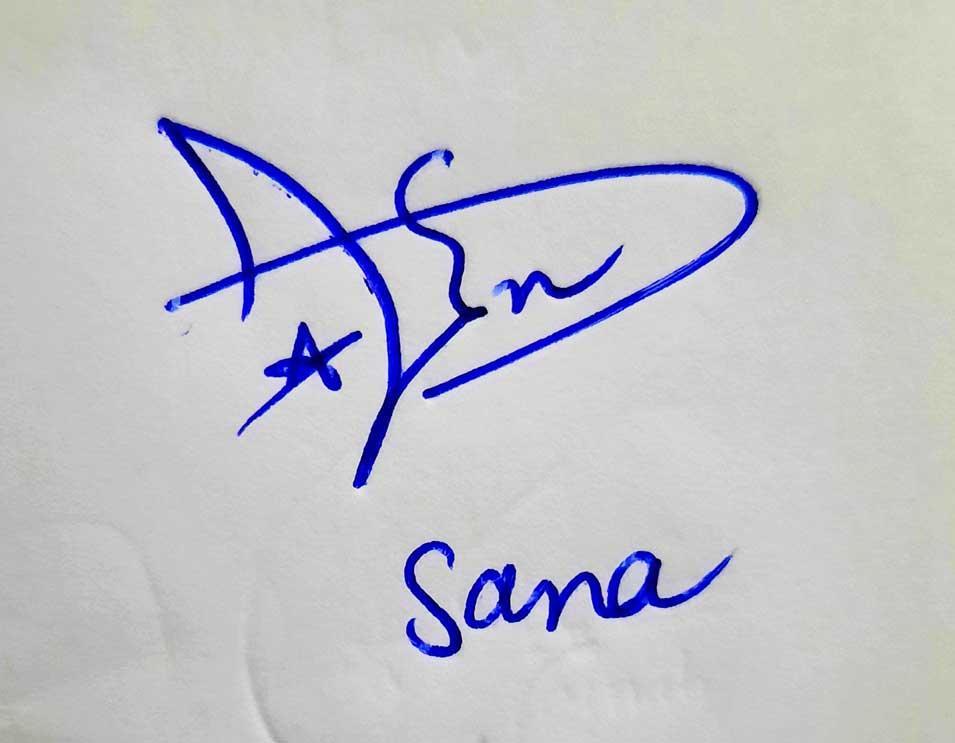 Sana Name Signature Style