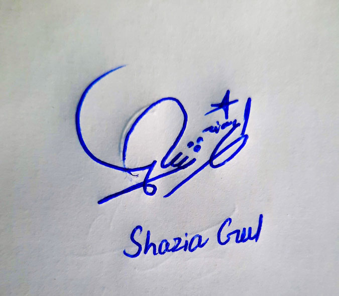Shazia Gul Name Online Signature Styles