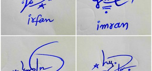 Short And Stylish Signature Of My Name