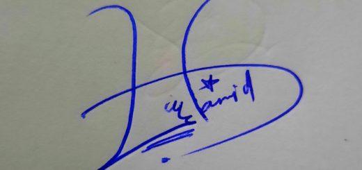 Syed Hamid Name Signature Style