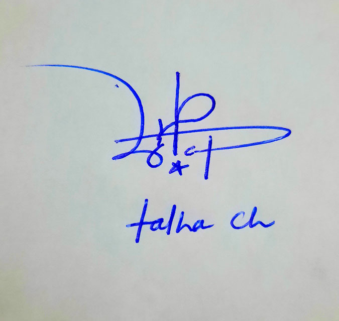 Talha Ch Name Online Signature Styles