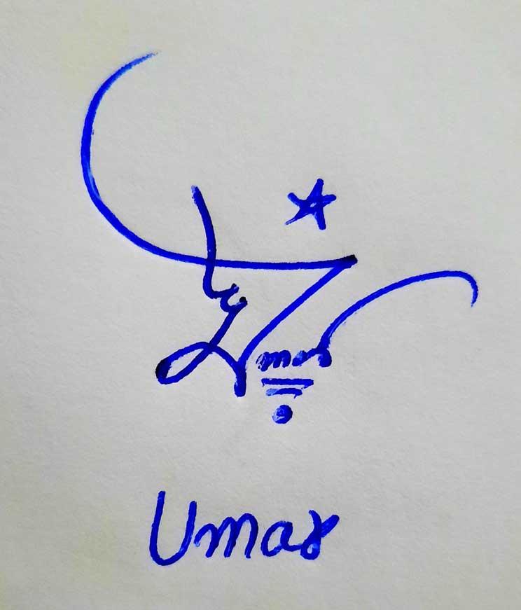 Umar Name Signature Style