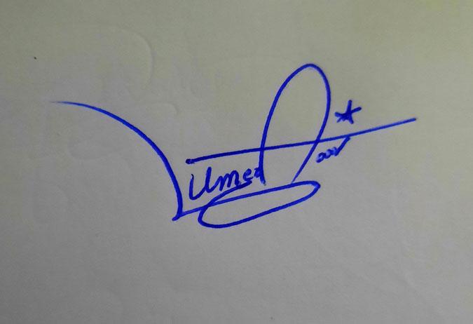 Umer Farooq Name Signature Style
