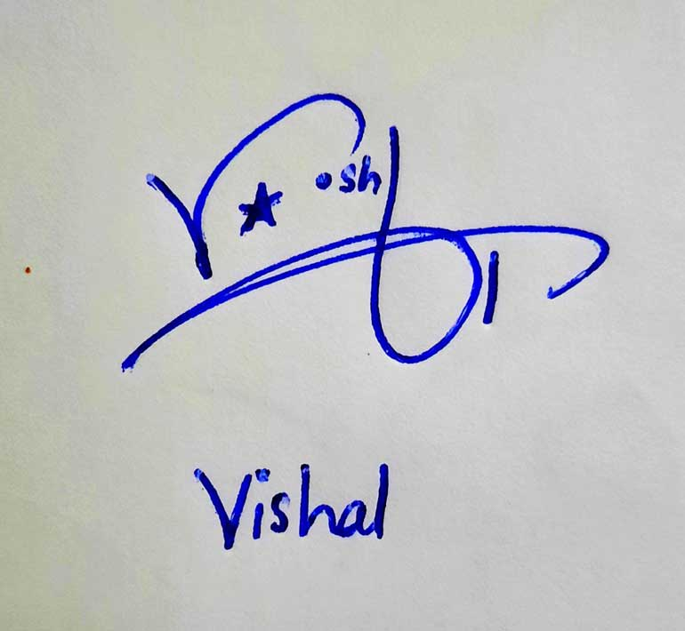 Vishal Name Signature Style