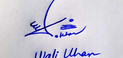 Wali Khan Name Online Signature Styles