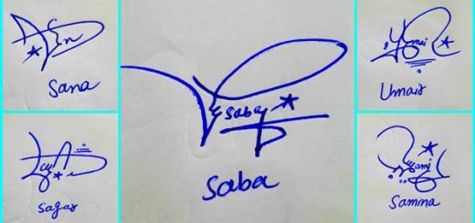 Name And Signature