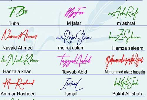 Different Signature Styles