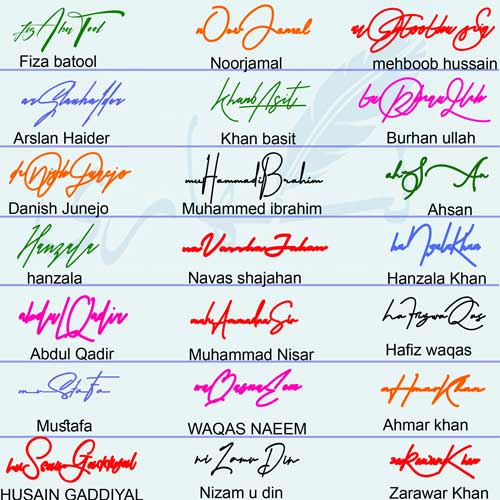 Professional Style Handwritten Signature Collection