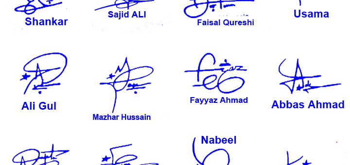 Top Handwritten Signature Transparent Background