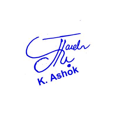 K Ashok Signature Style