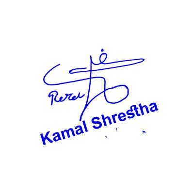 Kamal Shrestha Signature