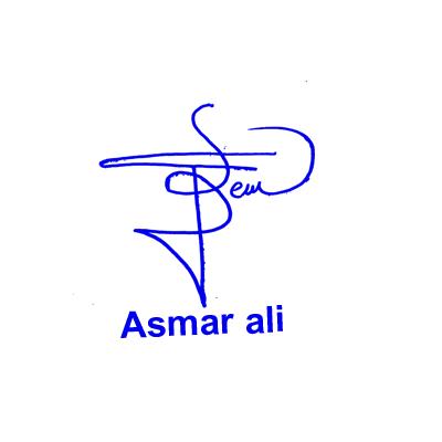 Asmar Ali Signature