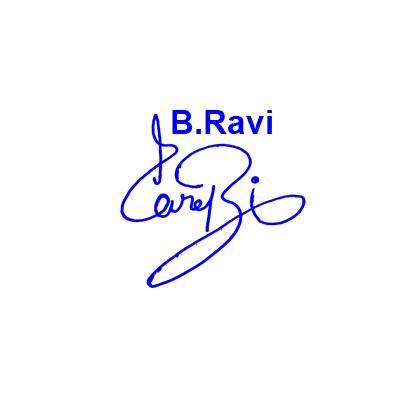 B Ravi Signature Style