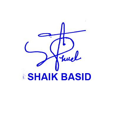 Shaik Basid Signature Style